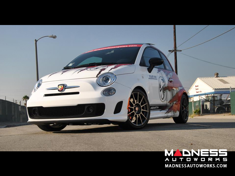 White FIAT ABARTH Wrapped